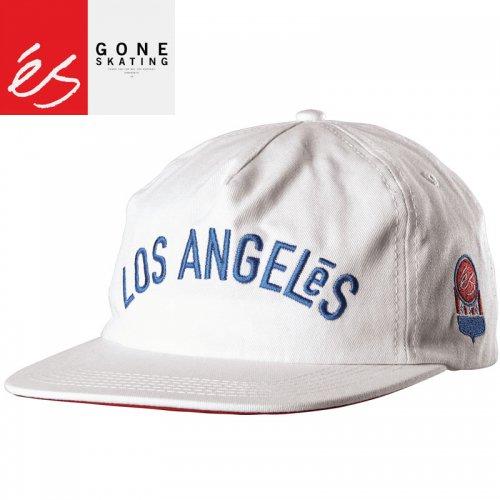 【エス ES FOOTWEAR スケボー キャップ】LOS ANGELES HAT ホワイト NO17