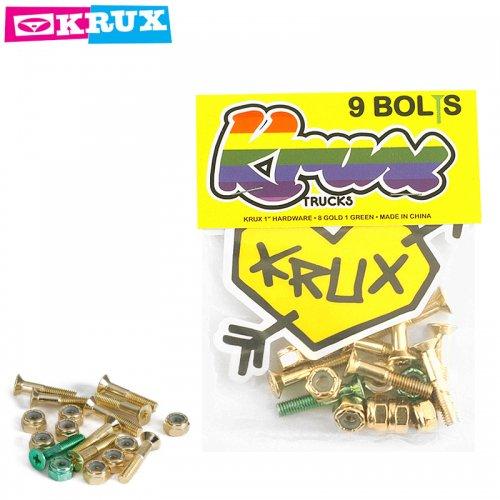 【KRUX クラックス スケボー ハードウェア】KROME 9 BOLTS【1インチ】GOLD NO2