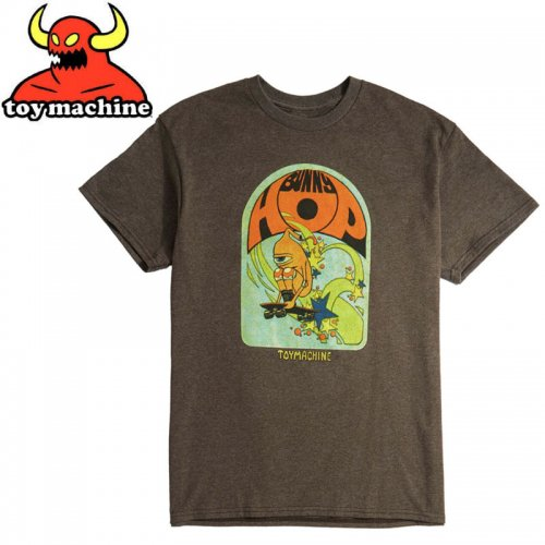 【トイマシーン TOY MACHINE スケボー Tシャツ】BUNNY HOP TEE【コーヒーブラウン】NO249