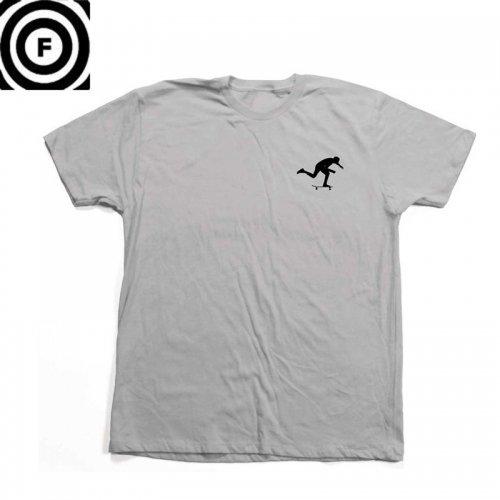 【ファンデーション FOUNDATION スケボー Tシャツ】 PUSH TEE【シルバー】NO32