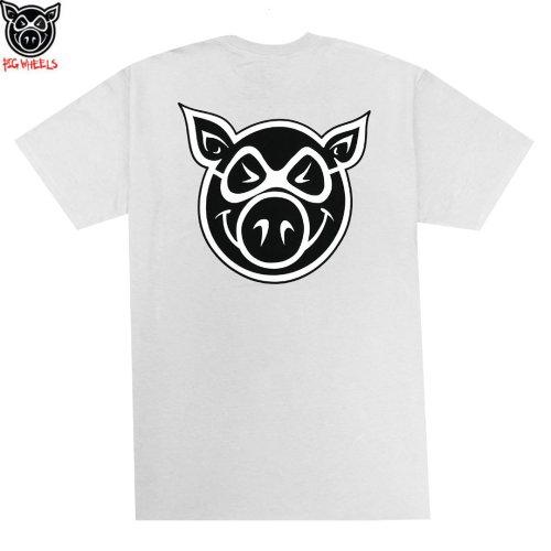 【ピッグ PIG WHEEL スケボー Tシャツ】HEAD TEE【シルバー】NO11