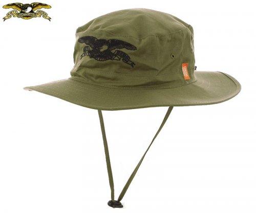 【アンチヒーロー ANTIHERO キャップ】BASIC EAGLE BOONIE HAT オリーブ×ブラック NO43