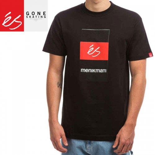 【エススケートボード ES FOOTWEAR スケボー Tシャツ】MENIKMATI BOX TEE【ブラック】NO32