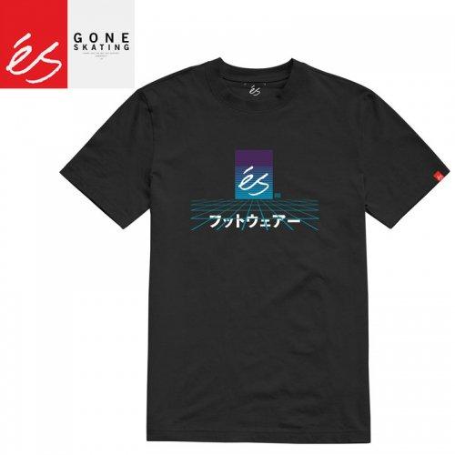【エススケートボード ES FOOTWEAR スケボー Tシャツ】MECHA TEE【ブラック】NO36