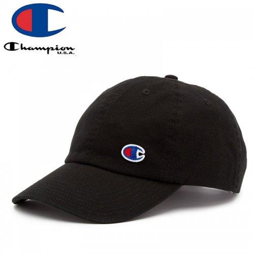【CHAMPION チャンピオン レディース ベースボールキャップ】FLOW DAD CAP ブラック NO2