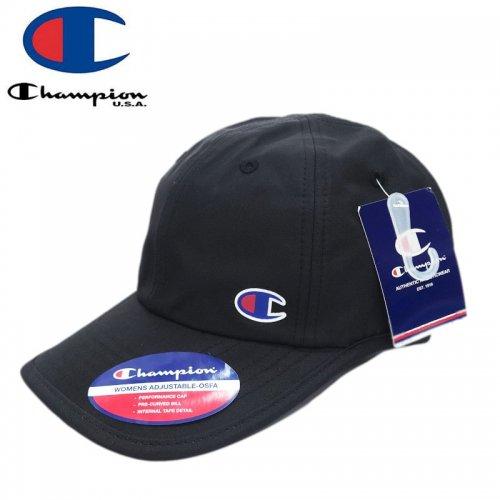 【CHAMPION チャンピオン レディース ベースボールキャップ】BIG C CLASSIC TWILL CAP ブラック NO4