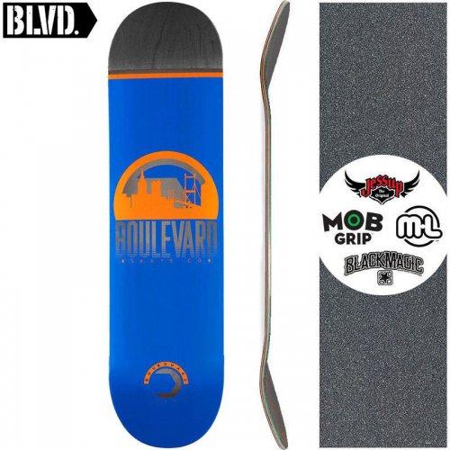 【ブルーバード BLVD スケートボード デッキ】TRAVELER BLUE DECK【8.0インチ】NO18