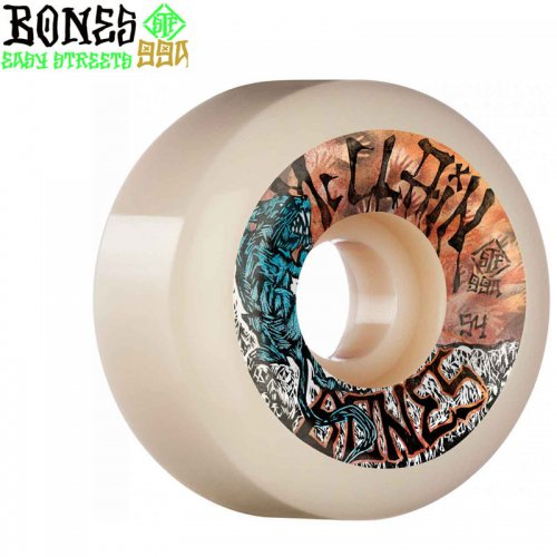 【ボーンズ BONES スケボーウィール】PRO STF MCCLAIN PRIMAL V6 WIDE-CUT 99A【54mm】【56mm】NO230