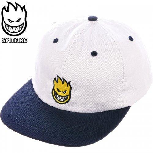 【スピットファイヤー SPITFIRE ベースボールキャップ】BIGHEAD FIL SNAPBACK HAT ホワイト×ネイビー×イエロー NO75
