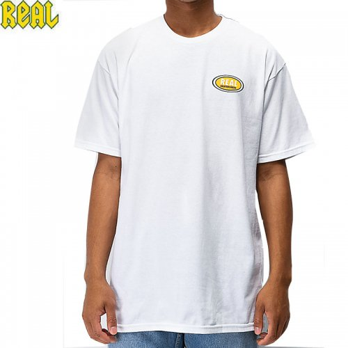 【REAL リアル スケートボード Tシャツ】SMALL OVAL TEE【ホワイト】NO63