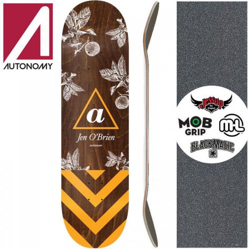 【AUTONOMY オートノミー スケートボード デッキ】JEN OBRIEN III SERIF DECK【7.75インチ】【8.0インチ】【8.25インチ】NO1