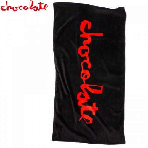 【チョコレート スケートボード CHOCOLATE ビーチタオル】CHUNK BEACH TOWEL ブラック NO2