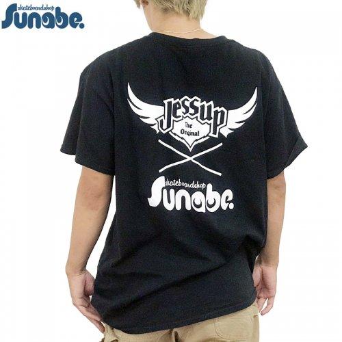 【SKATEBOARD SHOP SUNABE スナベオリジナル】JESSUP x SUNABE S/S Tシャツ【ブラック】NO3