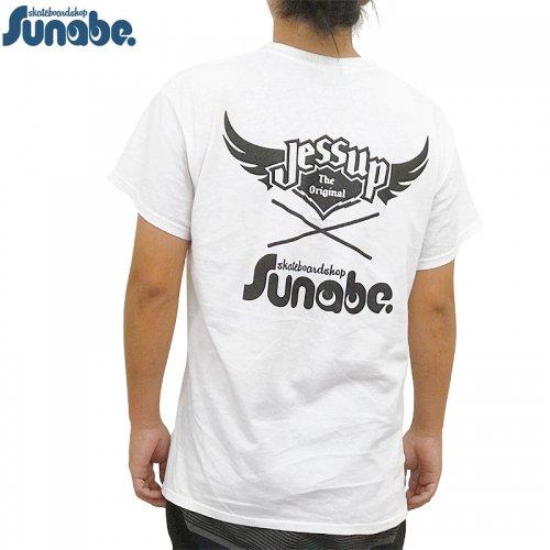 【SKATEBOARD SHOP SUNABE スナベオリジナル】JESSUP x SUNABE S/S Tシャツ【ホワイト】NO4