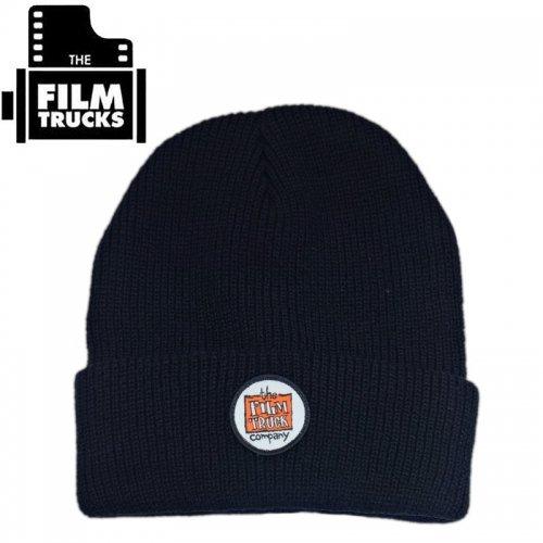 【FILM TRUCKS フィルム スケボー ニットキャップ】TRUCK COMPANY PATCH BEANIE ブラック NO1