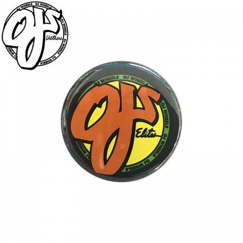 【オージェイ OJ スケボー バッヂ】1-1/4 BUTTON 缶バッチ OJ 3cm ブラック/オレンジ NO1