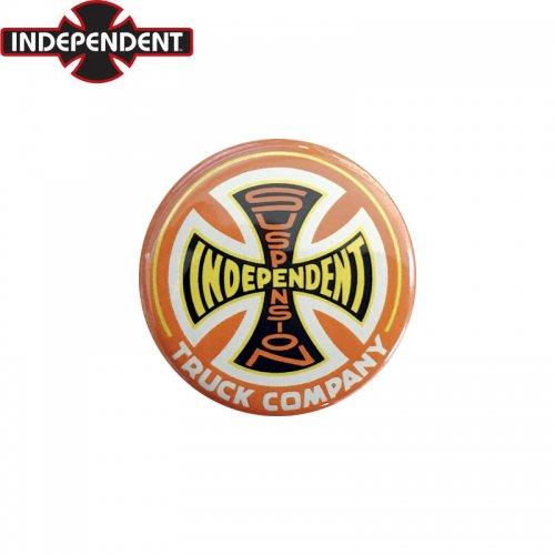 【INDEPENDENT インディペンデント スケボー バッヂ】1-1/4 BUTTON 缶バッチ AMI LOGO 3cm オレンジ/イエロー NO14