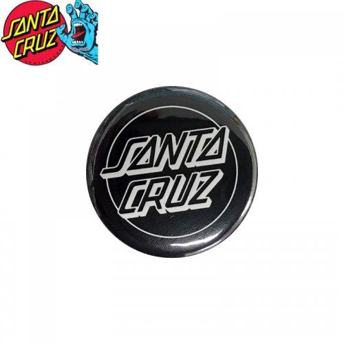 【サンタクルーズ SANTA CRUZ スケボー バッヂ】1-1/4 BUTTON 缶バッチ DOT LOGO 3cm ブラック/ホワイト NO9