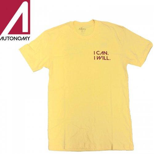 【オートノミー AUTONOMY レディース Tシャツ】WATCH ME TEE【イエロー】NO5