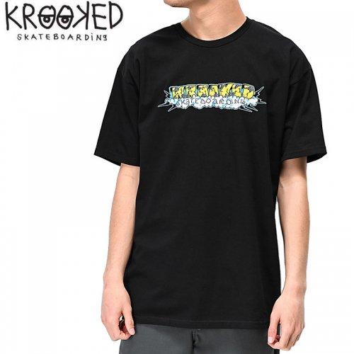 【KROOKED クルックド スケートボード Tシャツ】STORM S/S TEE【ブラック】NO84