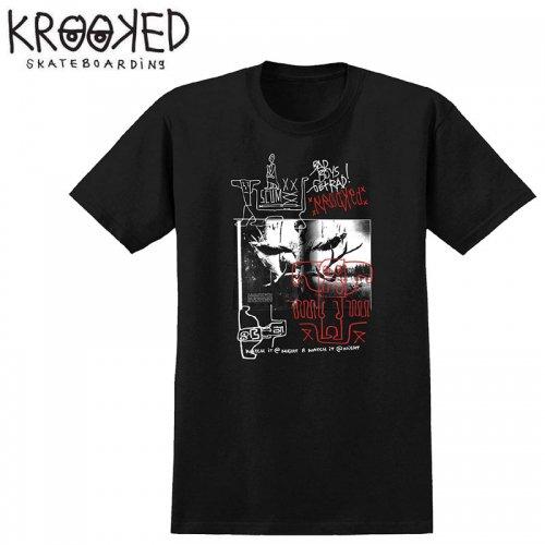 【KROOKED クルックド スケートボード Tシャツ】SCUM PREMIUM S/S TEE【ブラック】NO86