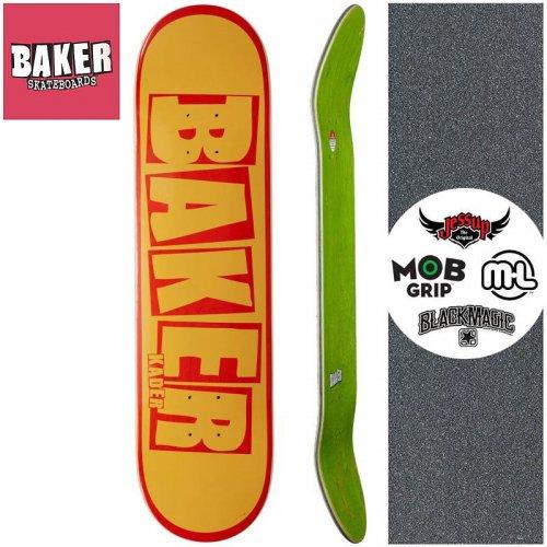 【ベーカー BAKER スケボー デッキ】KADER BRAND NAME DECK【7.875インチ】イエロー オレンジ NO270