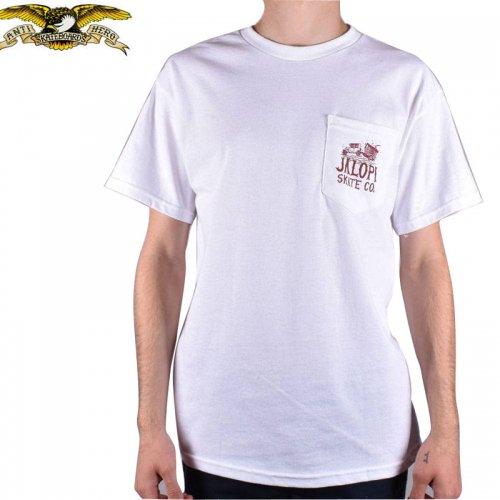 半額セール【アンタイヒーロー ANTIHERO スケボーTシャツ】JALOPI SKATE CO POCKET TEE【ホワイト 】NO96