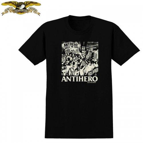 半額セール【アンタイヒーロー ANTIHERO スケボーTシャツ】PROTEST TEE【ブラック】NO97