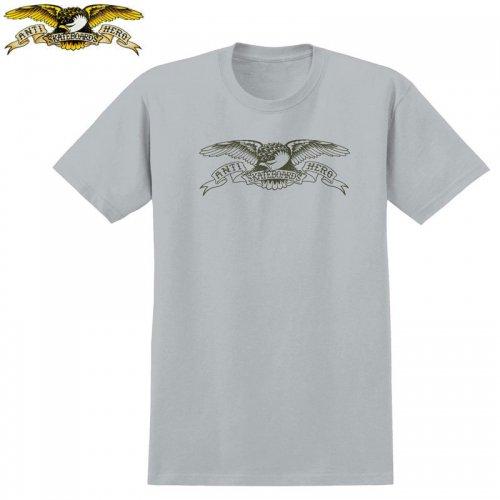 半額セール【アンタイヒーロー ANTIHERO スケボーTシャツ】BASIC EAGLE TEE【シルバーグレー】NO107