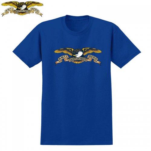 半額セール【スケボー ANTIHERO キッズ Tシャツ アンチヒーロー】EAGLE TEE【ロイヤルブルー】NO12