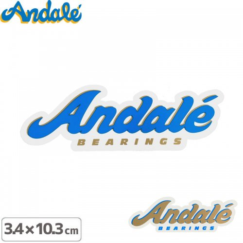 【アンデール ANDAL スケボー ステッカー】ANDAL LOGO STICKER【3.4cm x 10.3cm】NO5