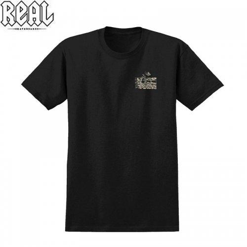 半額セール【REAL リアル スケートボード Tシャツ】PROPHECY PREMIUM TEE【ブラック】NO71