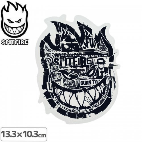 【スピットファイアー SPITFIRE スケボー ステッカー】RANSOM BIG HEADS STICKER【13.3cmx10.3cm】NO111