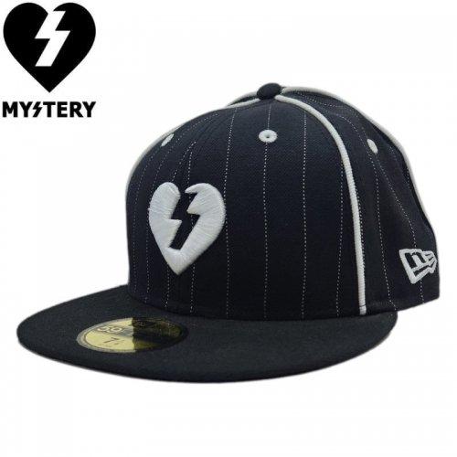 【MYSTERY ミステリー スケボー キャップ】HEART NEW ERA CAP PINSTRIPE【ブラック】 NO1