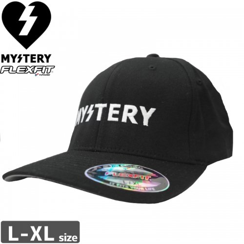 【MYSTERY ミステリー スケボー キャップ】TEXT LOGO FLEX HAT NO4
