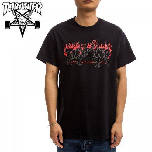 【スラッシャー THRASHER Tシャツ】CROWS T-SHIRT 【ブラック】 NO123