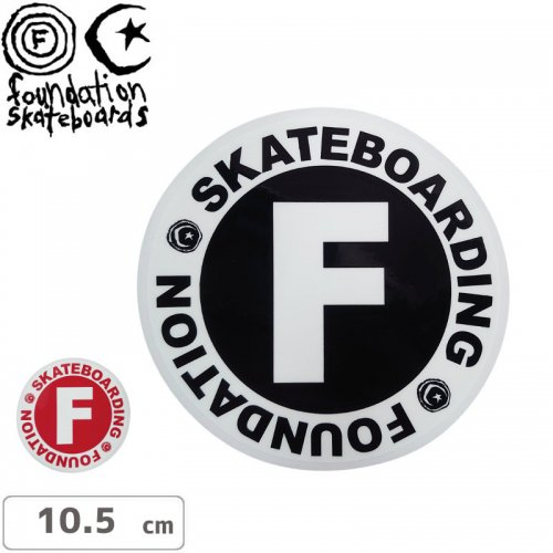 【ファンデーション FOUNDATION スケボー ステッカー】CIRCLE STICKER【10.5cm】NO6