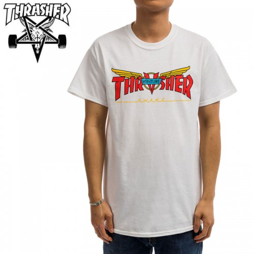 【スラッシャー THRASHER Tシャツ】VENTURE TRUCKS COLLAB T-SHIRT 【ホワイト】 NO125