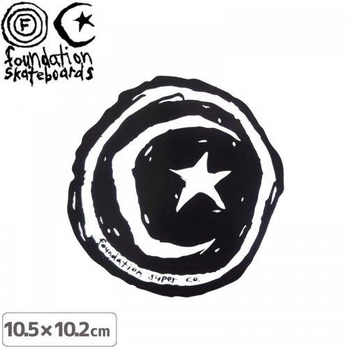 【ファンデーション FOUNDATION スケボー ステッカー】STAR & MOON STICKER【10.5cm×10.2cm】NO8