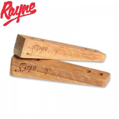 【RAYNE レイン ロングボード ライザーパッド】BAMBOO RISERS 7 DEGREES 竹製 セパレートタイプ NO2