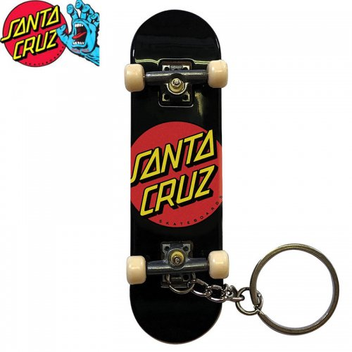 【TECH DECK テックデッキ 指スケ】CLASSIC DOT FINGER BOARD KEY CHAIN ブラック SANTA CRUZ NO23