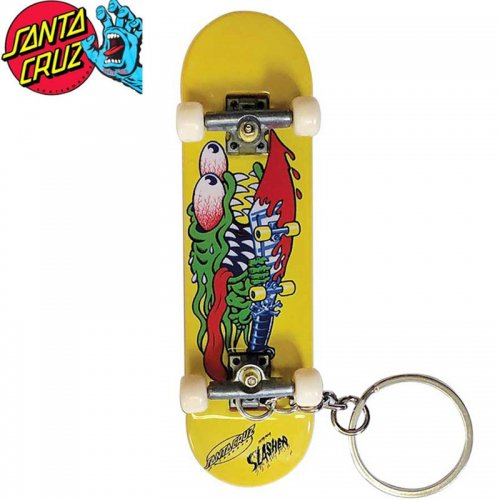【TECH DECK テックデッキ 指スケ】SLASHER FINGER BOARD KEY CHAIN イエロー SANTA CRUZ NO24