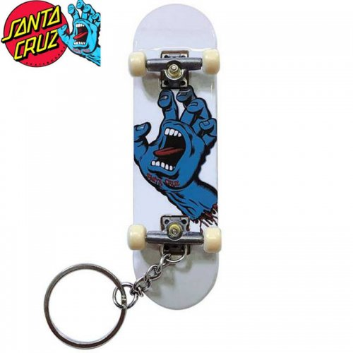 【TECH DECK テックデッキ 指スケ】SCREAMING HAND FINGER BOARD KEY CHAIN ホワイト SANTA CRUZ NO25