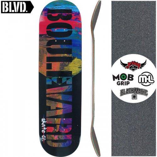 【ブルーバード BLVD スケートボード デッキ】FIBER DECK BLACK【8.0インチ】NO20