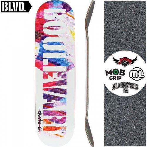 【ブルーバード BLVD スケートボード デッキ】FIBER DECK WHITE【8.0インチ】NO21