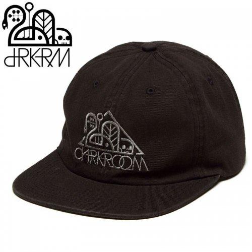 【DARKROOM ダークルーム スケボー キャップ】OG WASHED BLACK 6 PANEL CAP ブラック NO1