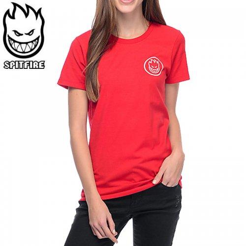 半額セール【スピットファイア SPITFIRE レディース Tシャツ】RETRO CLASSIC GIRL TEE【レッド】NO4