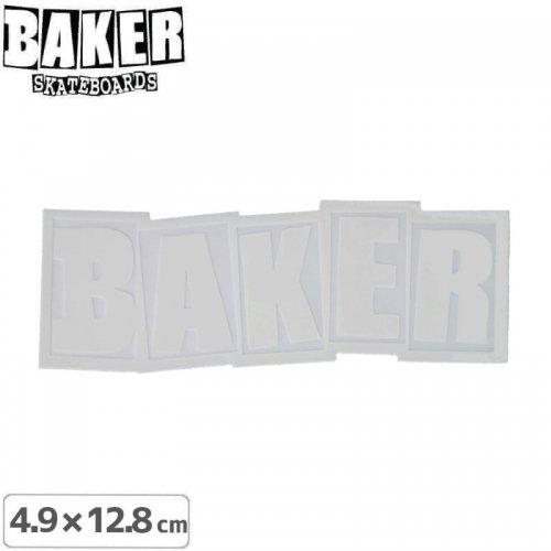 【ベーカー スケボー ステッカー】BAKER LOGO STICKER 4.5cm×12.8cm ホワイト NO70