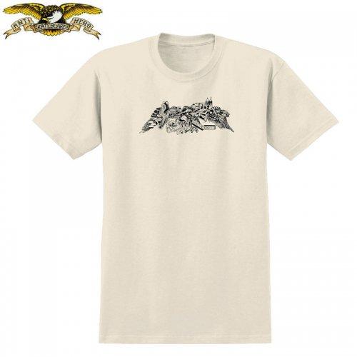 半額セール【アンタイヒーロー ANTIHERO スケボーTシャツ】HERNDON TEE【ナチュラル×ブラック】NO109