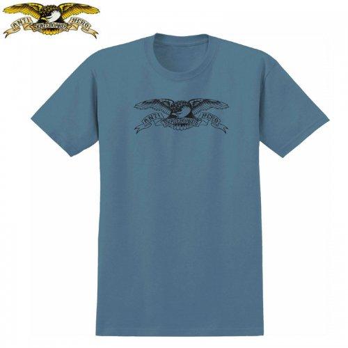 半額セール【アンタイヒーロー ANTIHERO スケボーTシャツ】BASIC EAGLE TEE【スレートブルー×ブラック】NO110